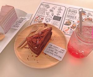 cafe, cake, and soda image