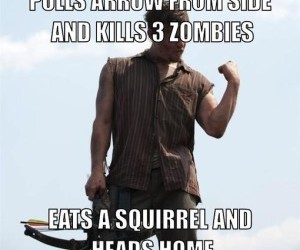 meme, norman reedus, and crossbow image