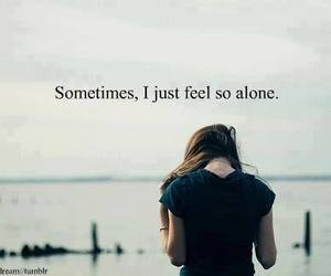 alone, quote, and sad image