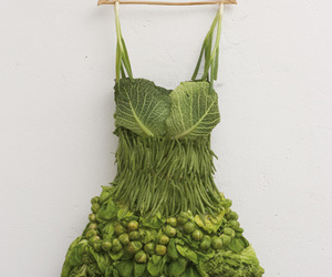dress, green, and vegetables image
