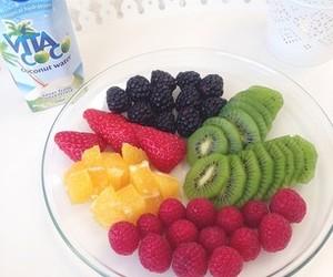fruit, blackberry, and kiwi image