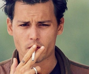 johnny depp, sexy, and smoke image