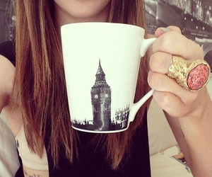 girl, london, and coffee image