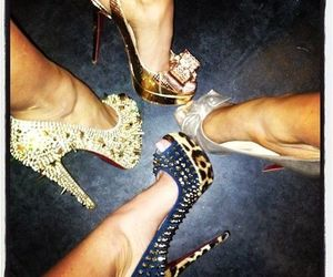 fashion, high heels, and louboutins image