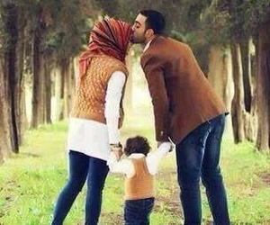 family, hijab, and muslim image