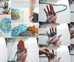 accesories, handmade, and finger knitting image