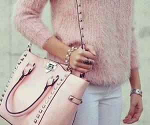 bag, pink, and girl image
