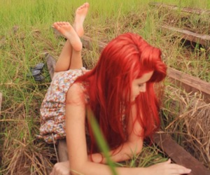 red hair, girl, and franciely bona image