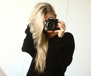 black, hair, and blond image