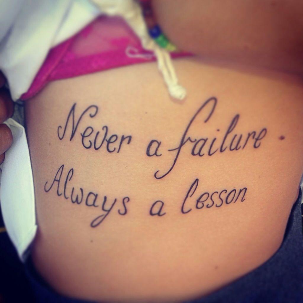 Failure ne a lesson never a demek always Rylee Writes:
