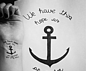 anchor, quote, and tatoo image