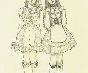 gothic lolita, lolita, and lolita art image