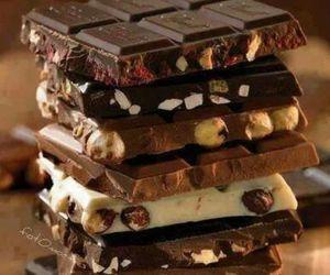 chocolate, happiness, and sweet image