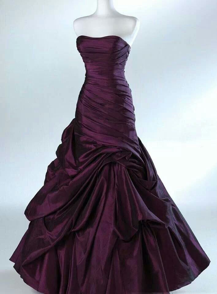 Dark purple wedding dress | Goth dresses on We Heart It