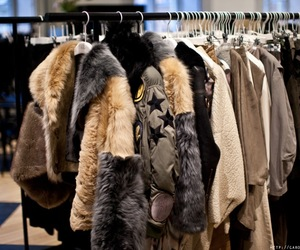 fashion, fur, and jacket image