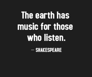 quote, music, and shakespeare image