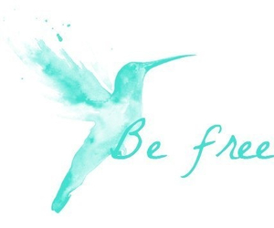 be free, blue, and cute image
