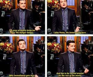 josh hutcherson, funny, and the hunger games image