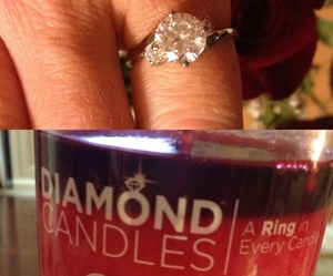 candle, candles, and diamonds image