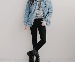asian, fashion, and jeans jacket image