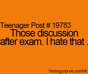 teenager post, exam, and quote image