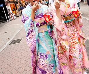 kimono, japan, and kawaii image