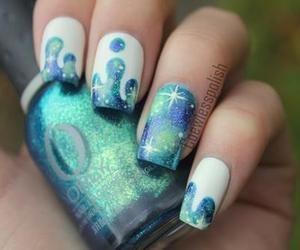 blue, galaxy, and nails image