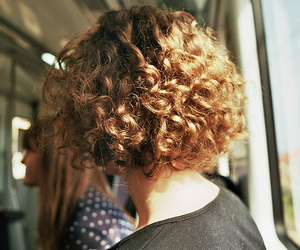 hair, curly, and vintage image