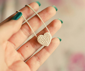 heart, nails, and jewelry image