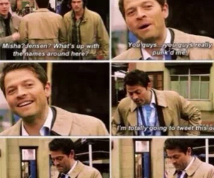 funny, castiel, and supernatural image