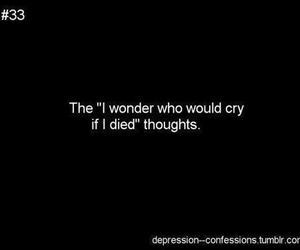 cry, depression, and thoughts image