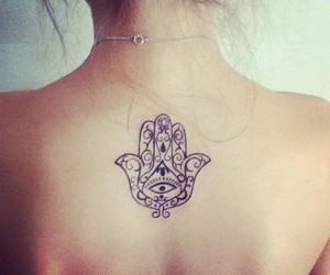 tattoo and hamsa image