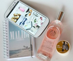 california, malibu, and perfume image