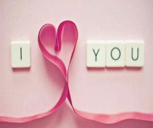 background, I Love You, and pink image