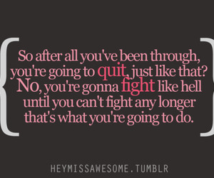 quote, fight, and inspiration image