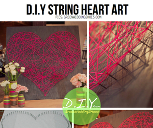 diy, heart, and art image