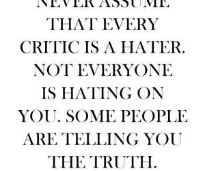 quote, haters, and truth image