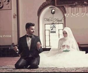 couple, wedding, and islam image