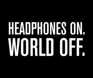 music, headphones, and quotes image