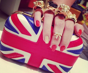 nails, red, and bag image