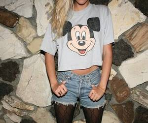 girl, fashion, and mickey mouse image