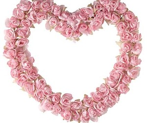 flowers, heart, and pink flowers image