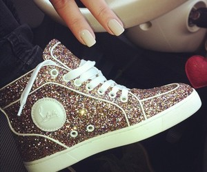 shoes, glitter, and nails image
