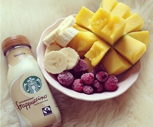 fruit, starbucks, and food image