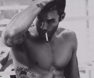 cigarette, guy, and tattoo image