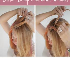 braid, hair, and side swept image