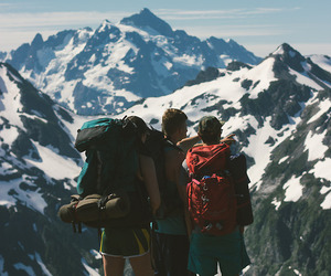friends, mountains, and nature image
