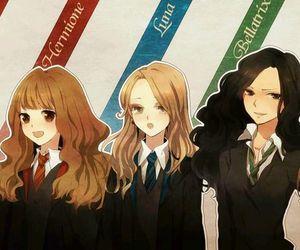 harry potter, bellatrix, and hermione image