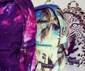 bag, galaxy, and backpack image