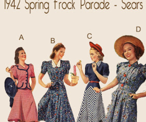 1940, beautiful, and dresses image